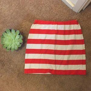 Topshop stripes mini skirt
