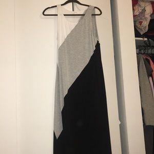Summer dress - black, white, & gray