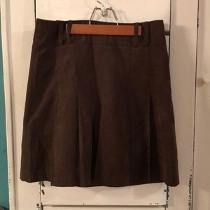 H&M Brown Pleated Skirt