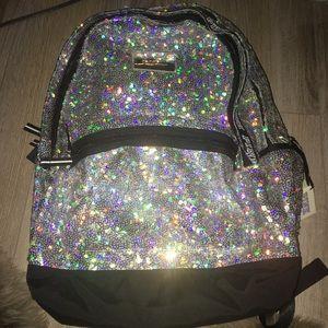 BN Vs pink bling Sequin campus backpack