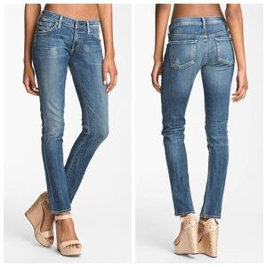 COH Racer Low Rise Skinny Slash Distressed Jeans