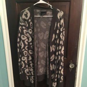 Forever 21 Long Leopard Cardigan
