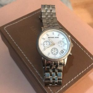 MICHAEL KORS CLASSIC ICON STAINLESS STEEL WATCH