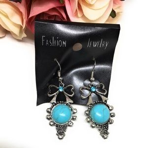 Jewelry - 💋6for$20💋 Teal Bow earrings