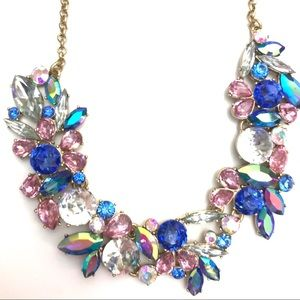 J. Crew Gemstone Cluster Statement Necklace