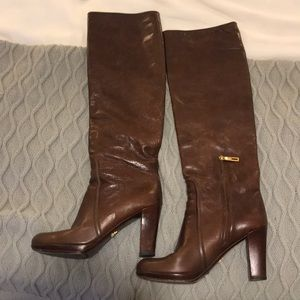 Prada leather boots!