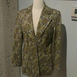 70s vintage floral print blazer