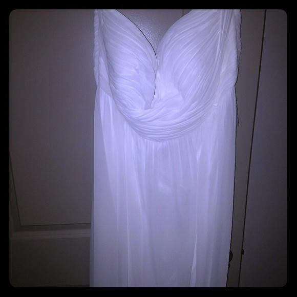 Donna Morgan Dresses Plus Size Size 22 Dress Lily White Poshmark