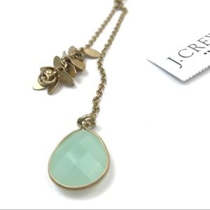 J. Crew Gemstone Pendant Y Necklace