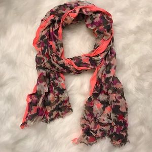 Pink camo scarf