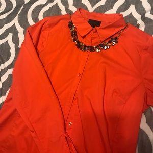 Orange Worthington dress shirt