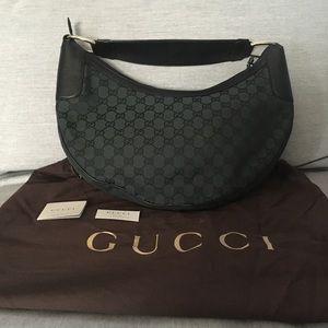 Gucci dark green handbag