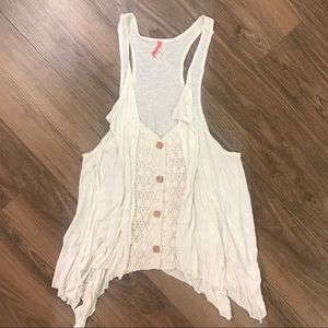 Free People - Tank button down
