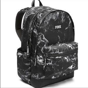 BNWT PINK VS black & white marble campus backpack