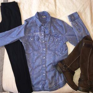 Roxy polka-dot long sleeve shirt