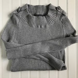 Grey Ribbed Banana Republic Sweater