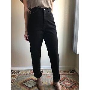 [vintage] Levis 512 black high waist tapered jeans