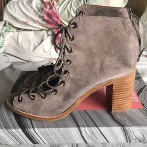 Jeffrey Campbell peeptoe booties