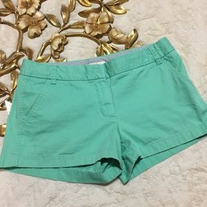 J. Crew Chino Broken In 100% Cotton Shorts Size 8