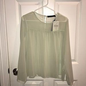 NWT Zara sheer blouse