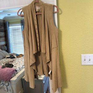 MICHAEL Michael Kors faux suede drape vest