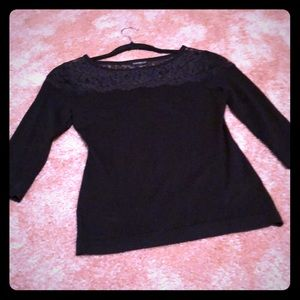 Express sweater with lace