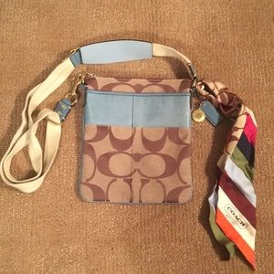 Coach Crossbody Messenger with double sided Scarf
