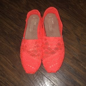 Lace Floral Orange TOMS
