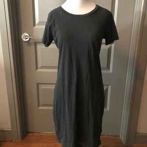 NWT XS J.Crew Gray short sleeve t-shirt dress
