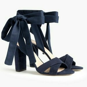 J.Crew Suede Sandals with Wraps