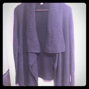 Loft Dark Gray Open Cardigan Sweater