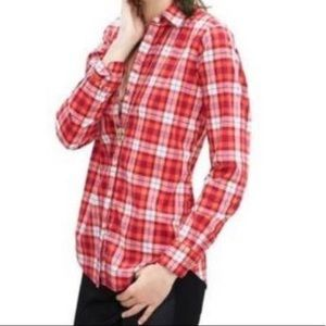 NWT Banana Republic Plaid Soft Wash Button Down