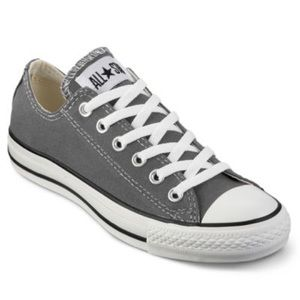 Gray low top converse sneakers