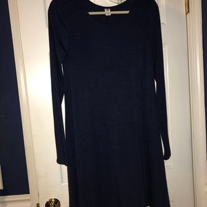 Navy Blue long sleeve t-shirt dress
