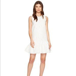 Maggy London white drop waist dress! NEW