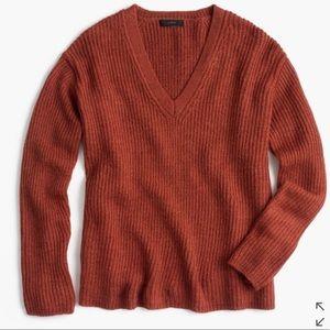 // j.crew oversized v-neck sweater //