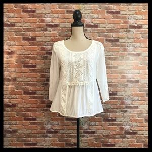 Anthropologie Maeve Cottonwood Peasant Blouse