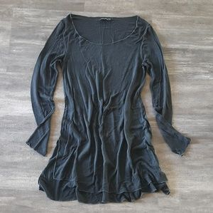 Black Loose Melville Long Sleeve Midi