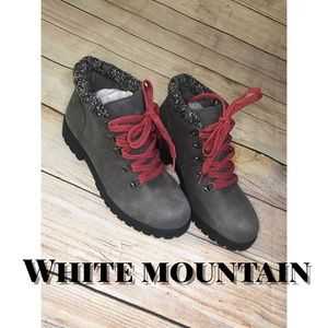 White mountain ankle boots / pink / grey / booties