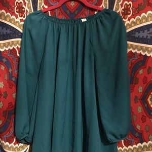 Old Navy Teal Tunic Blouse