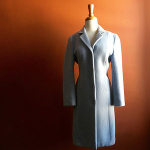 THE LIMITED Light Blue Long Coat Size M