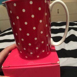 Larabee dot red and white mug kate spade