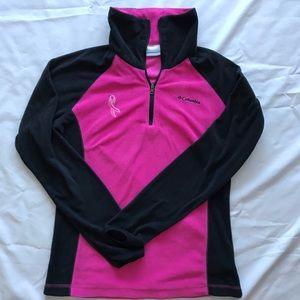 Columbia Fleece Breast Cancer Ribbon Pullover S
