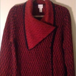 Chico red/black wrap cardigan