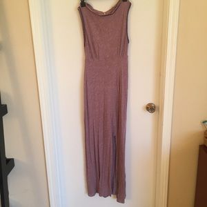 Purple maxi cotton FP beach dress