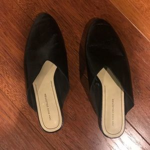 Zara Collection Leather slip on shoes Black