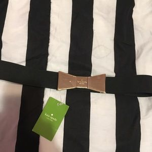 Kate spade black belt bow new with tags