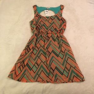 Orange and Aqua sundress NWT