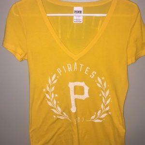 VS pink Pittsburgh Pirates Vneck