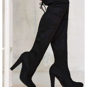 Never worn Steve Madden over the knee suede boots